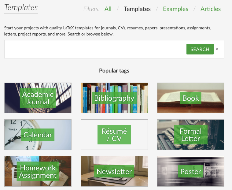 Tip of the Week: Add a Template to the Gallery - Overleaf, Editor de