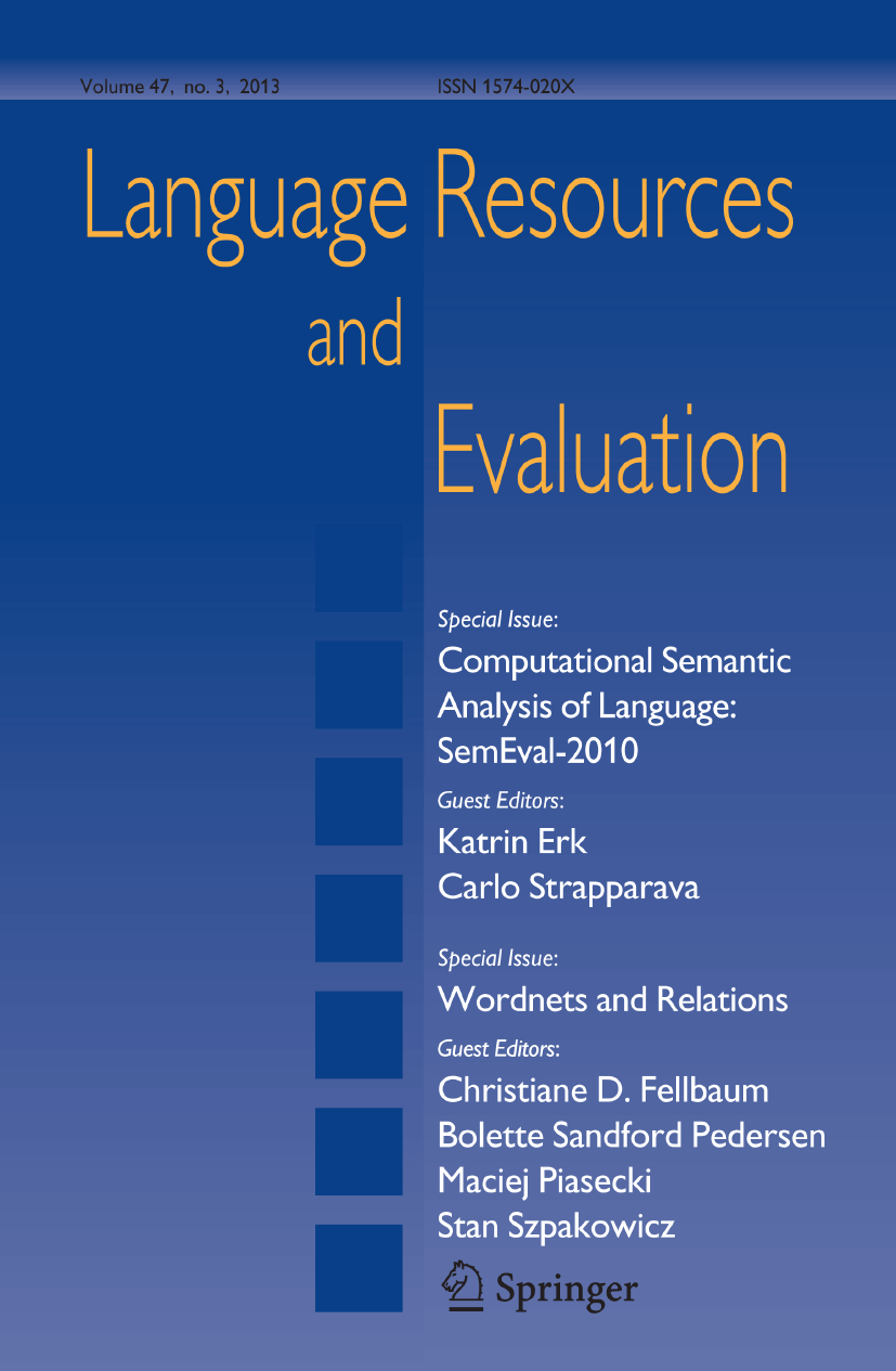 Language Resources and Evaluation - Springer LaTeX Template