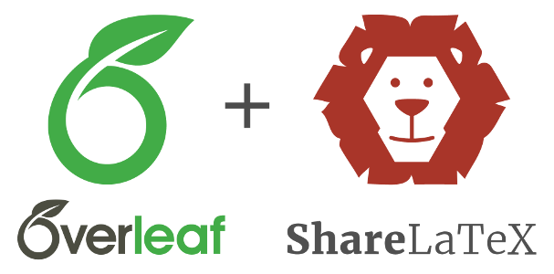 Overleaf plus ShareLaTeX logos