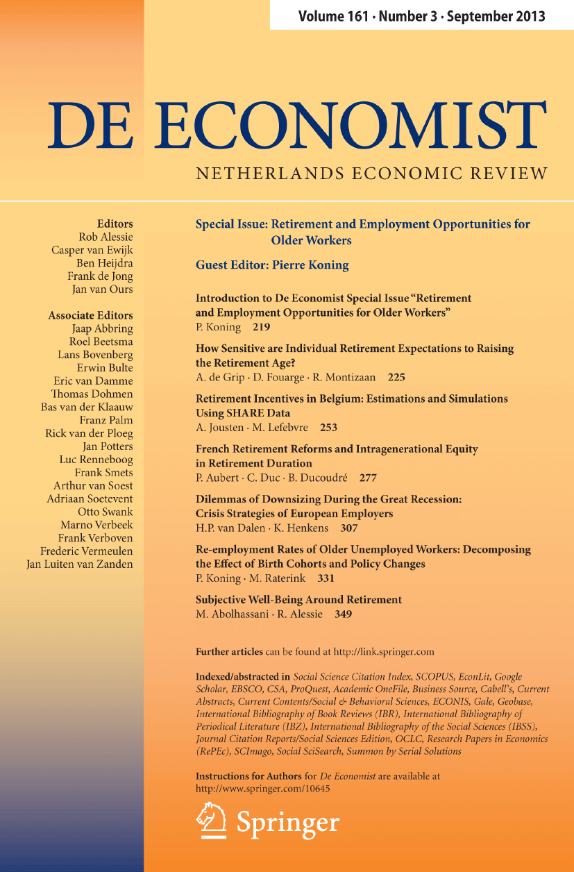 De Economist - Springer LaTeX Template