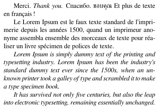 Multilingual typesetting on Overleaf using polyglossia and