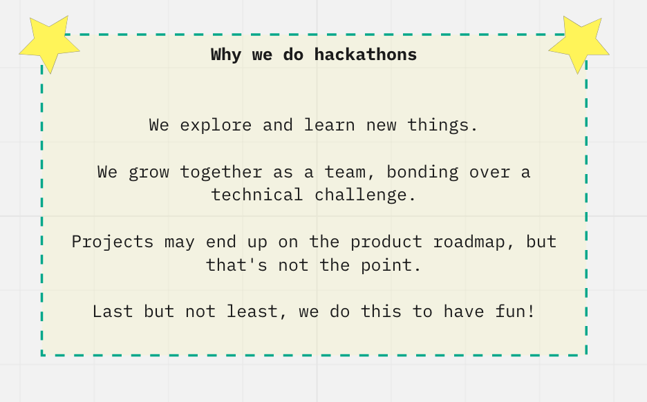 Why we do hackathons