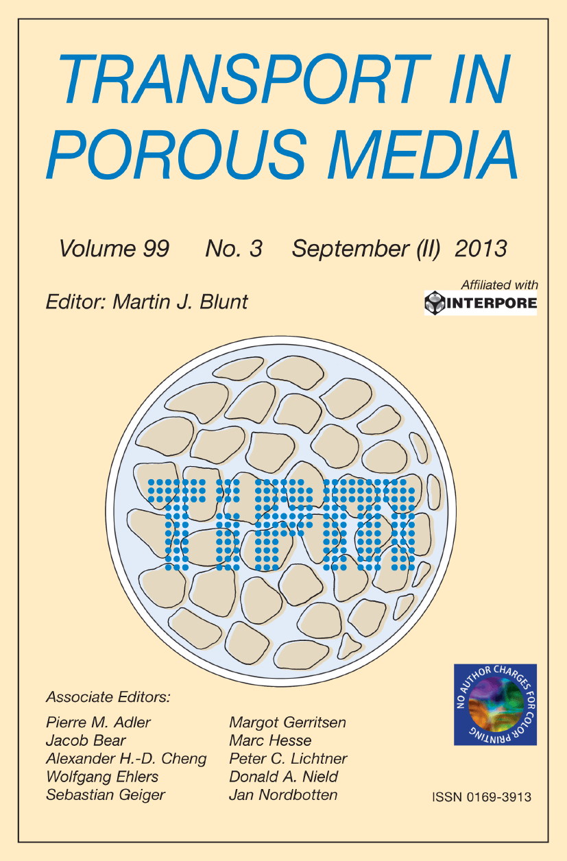 Transport in Porous Media - Springer LaTeX Template