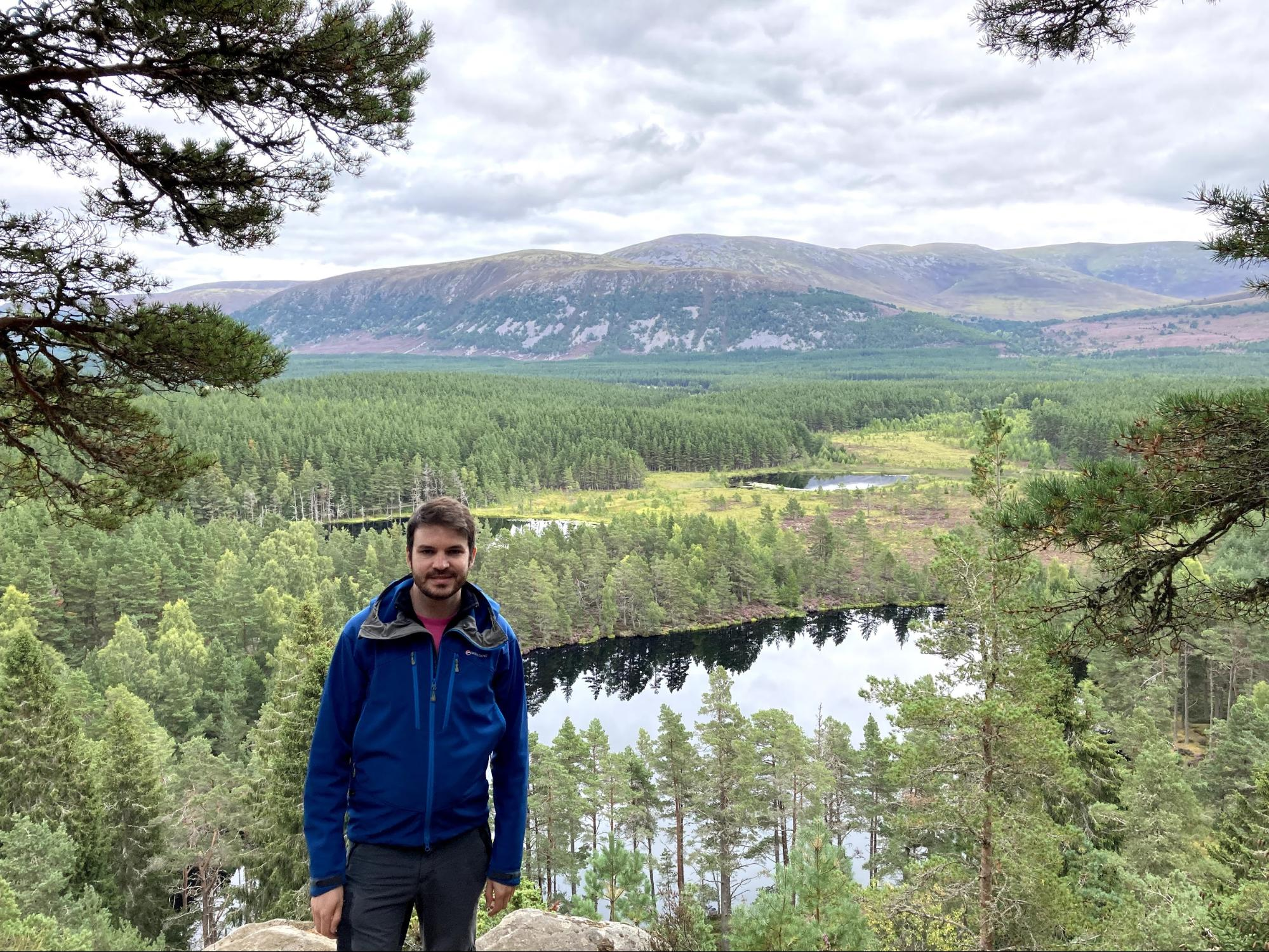 Photo of Ali in the Scottish mountains near Aviemore