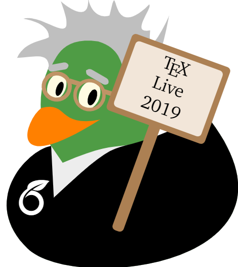 TeX Live 2019 Overleaf Duck