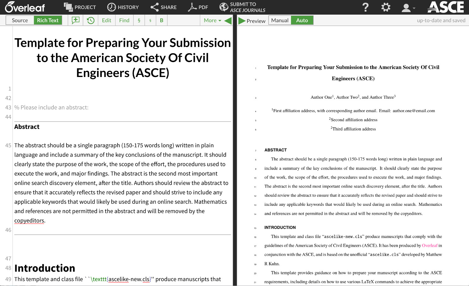 New partnership between ASCE and Overleaf - Overleaf, Editor LaTeX