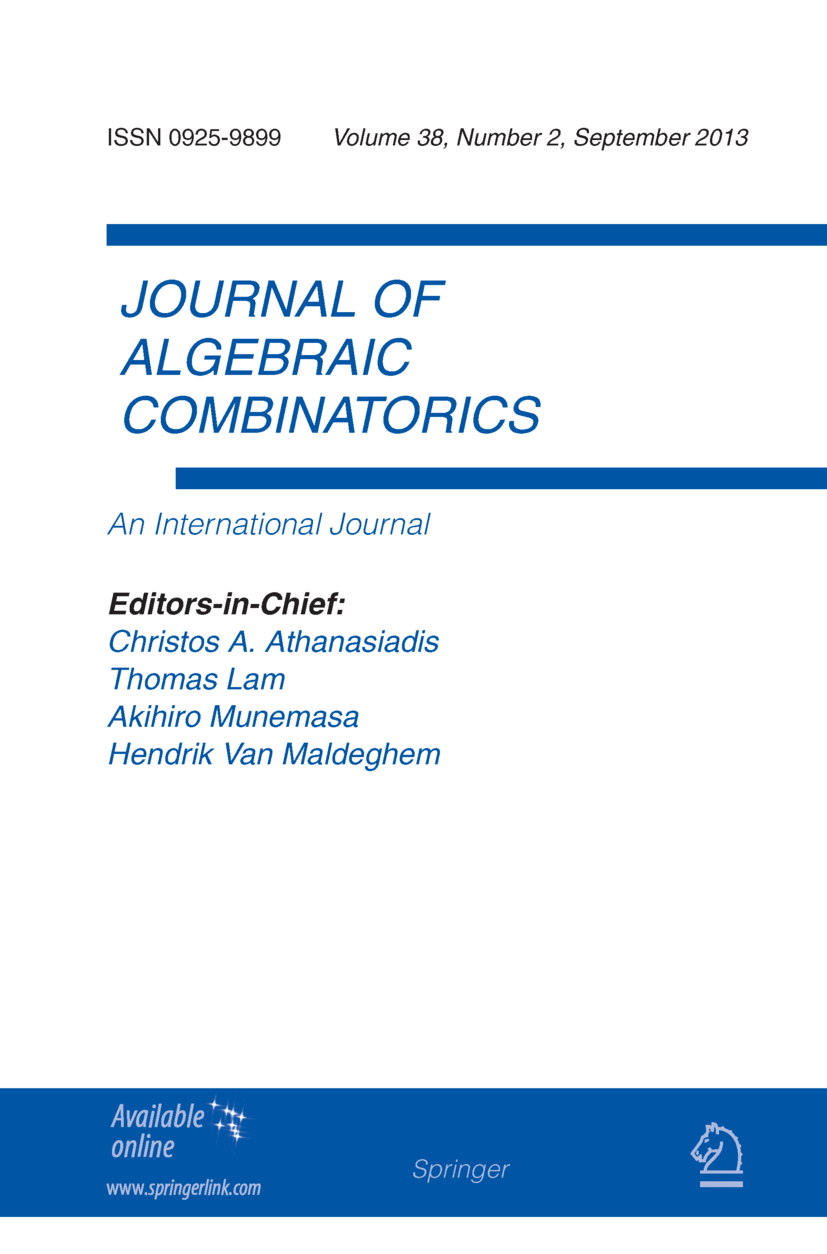 Journal of Algebraic Combinatorics - Springer LaTeX Template