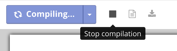 Stop compile of PDF button