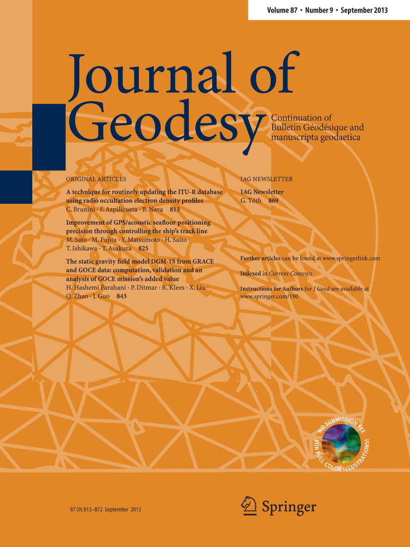 Journal of Geodesy - Springer LaTeX Template