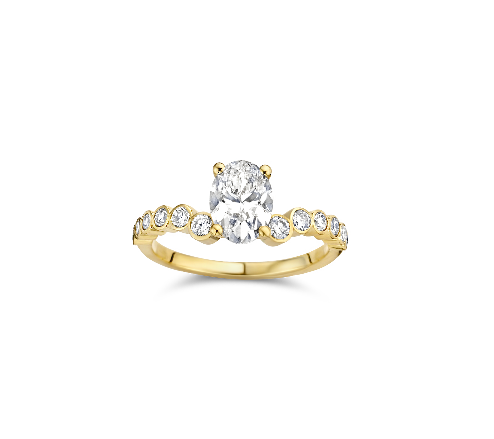Ruth engagement ring packshot - yellow gold