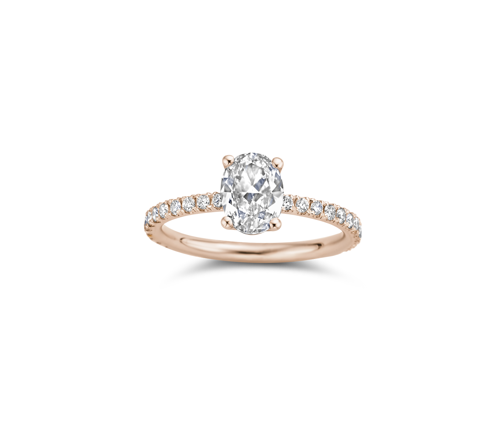 Maya engagement ring packshot - rose gold