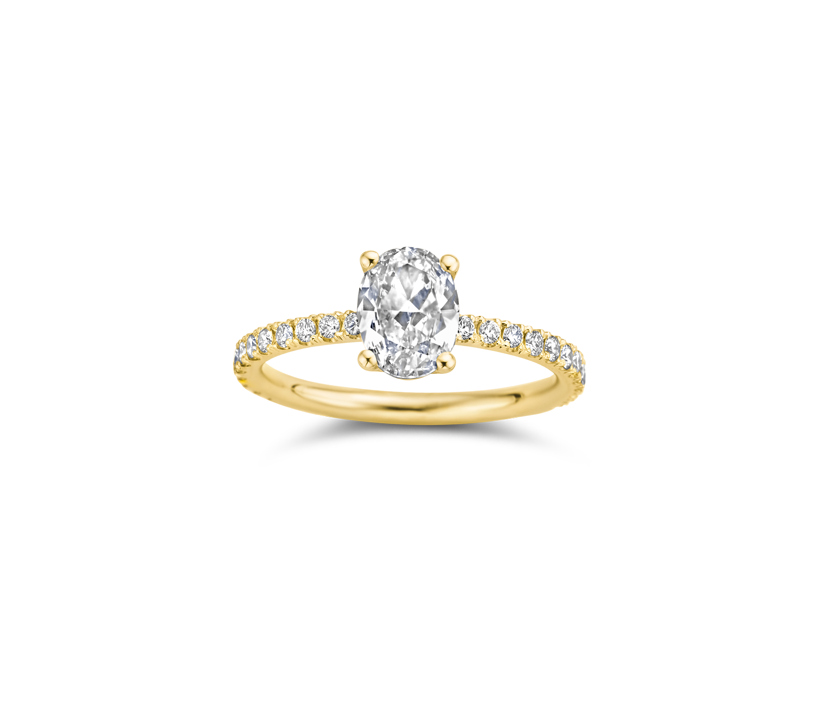 Maya engagement ring packshot - yellow gold