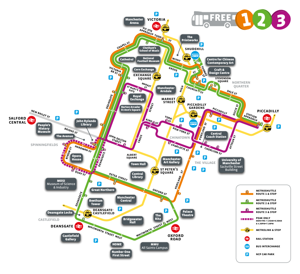 Metroshuttle free bus travel in the city and town centres