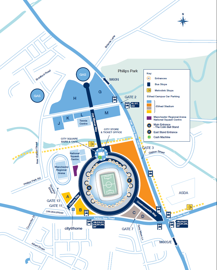Etihad Campus Car Park Plan Transport For Greater Manchester Parallel Diagram