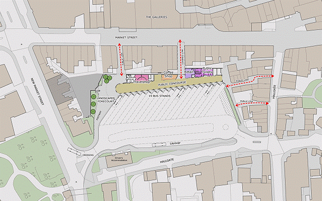 Wigan Bus Station map