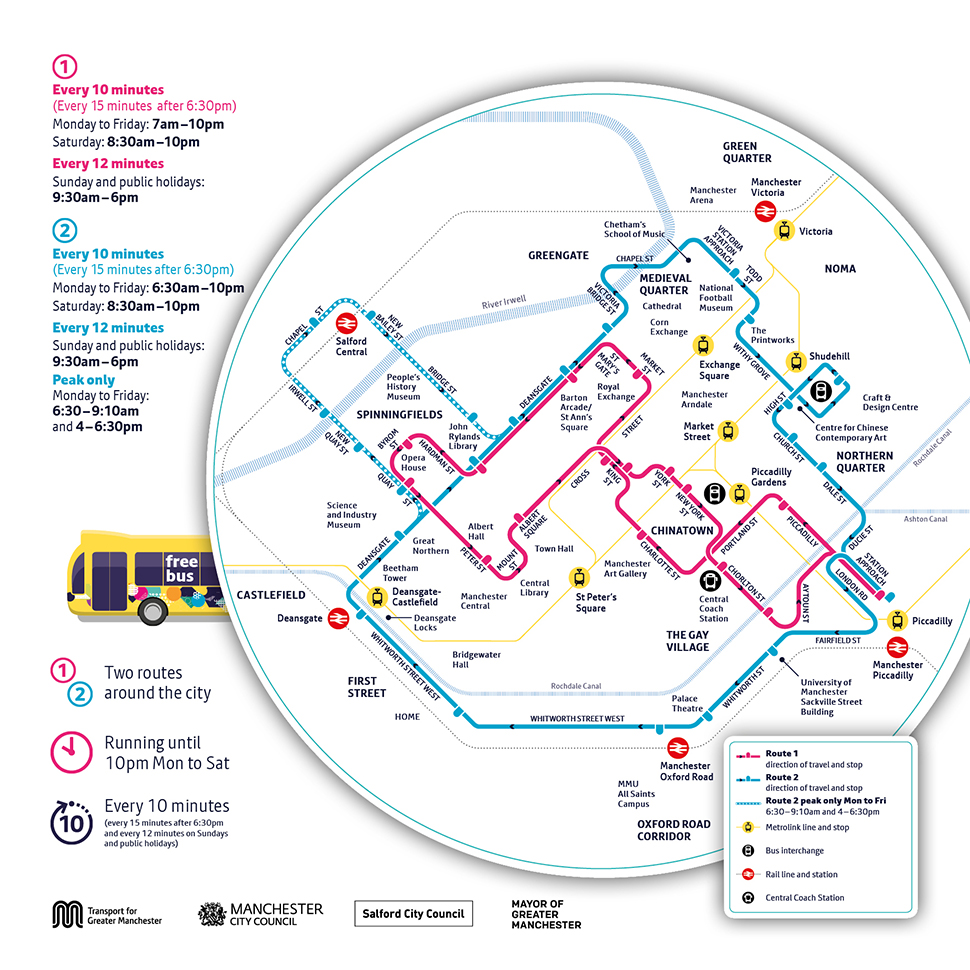 Free bus map image