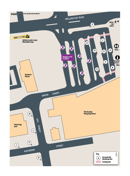 Tameside Bus Station closure map