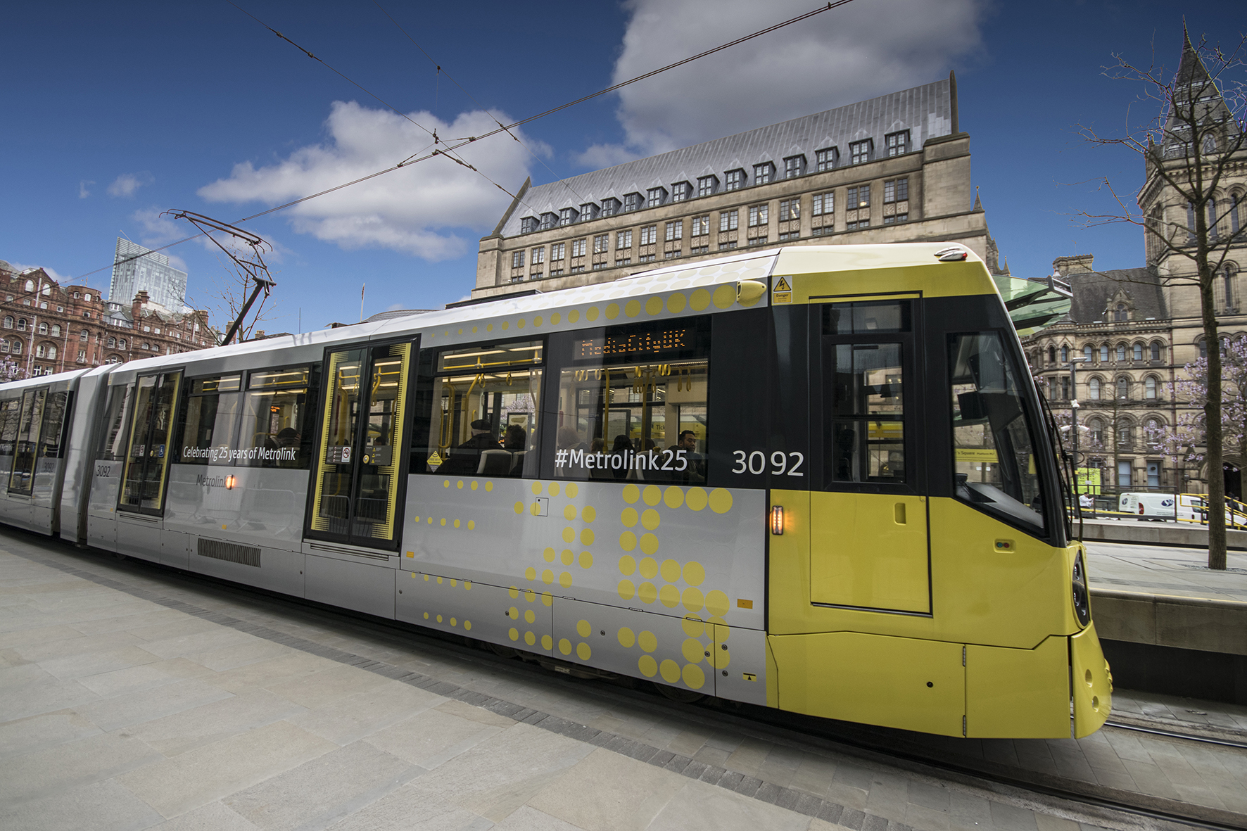 Picture of a tram in St Peters Square