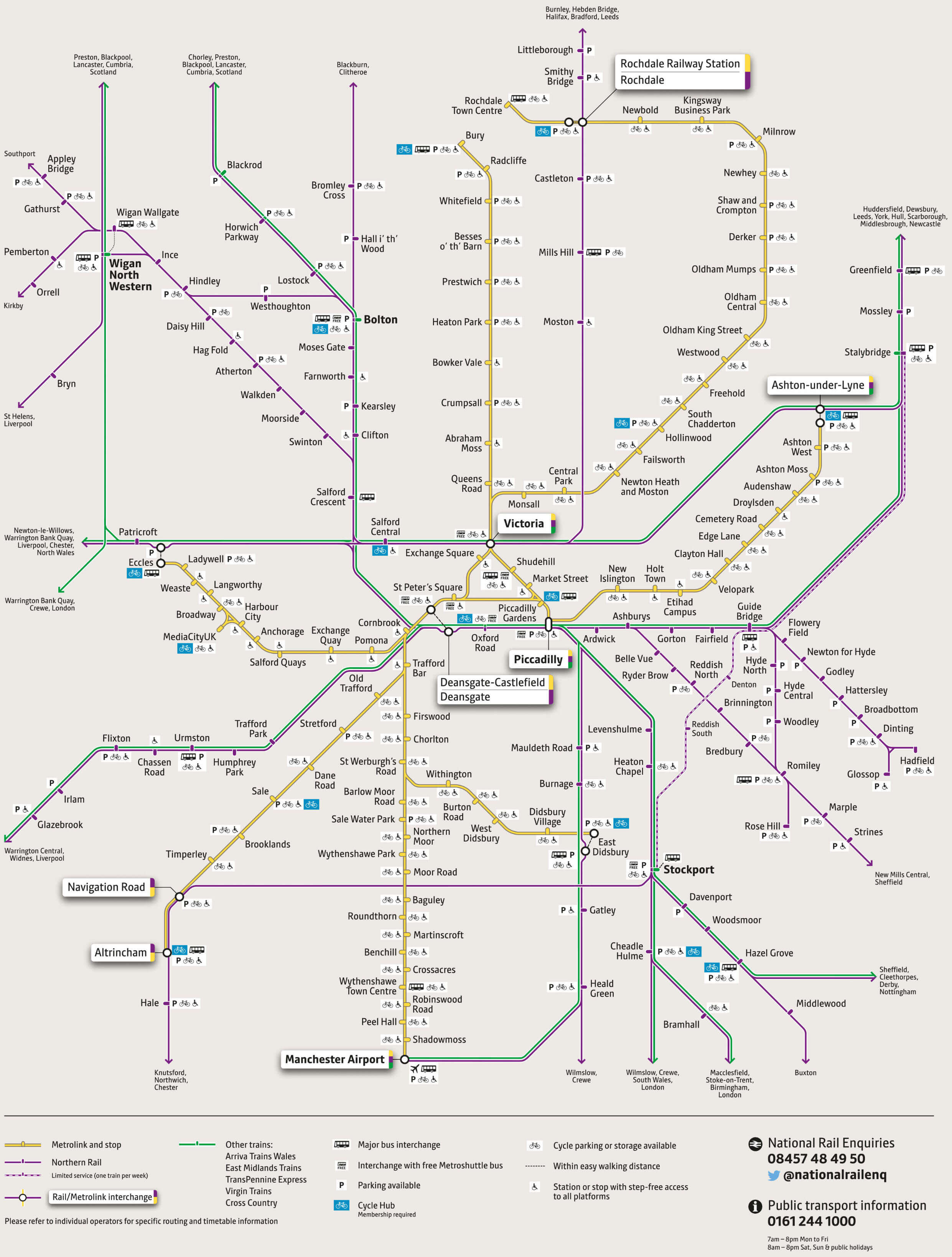 Train and tram network map