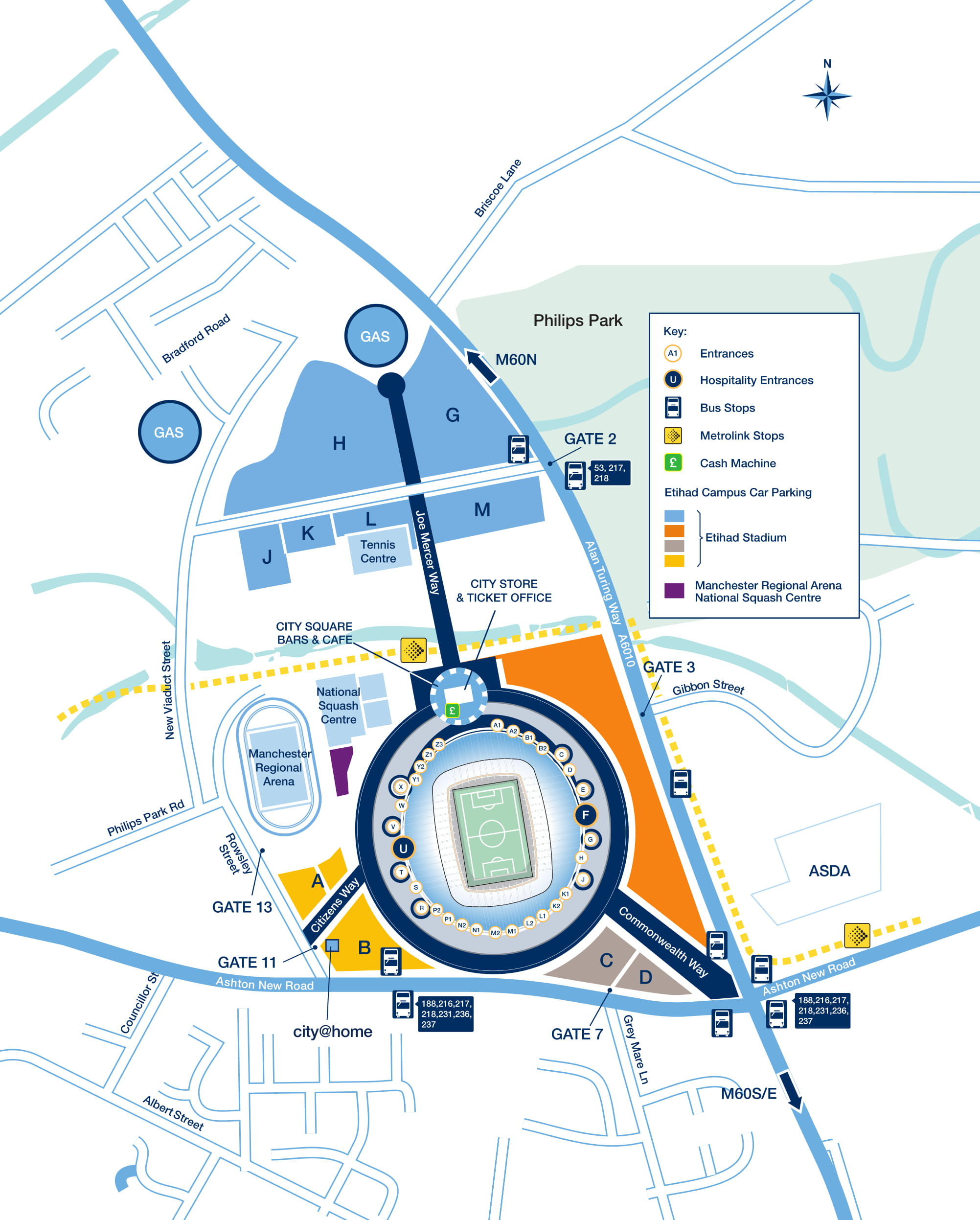 Etihad Campus Car Park Map