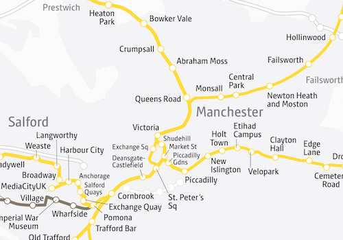 Manchester Metrolink Map Maps | Transport for Greater Manchester Manchester Metrolink Map