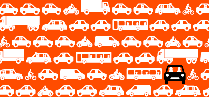 Congestion consultation orange car logo