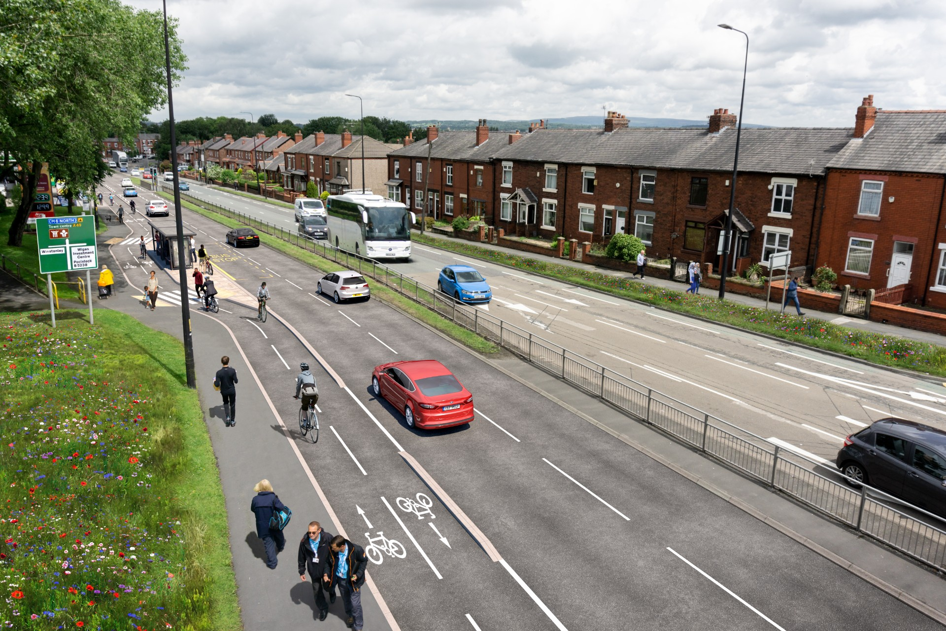 Wigan - Warrington Road - Visualisation