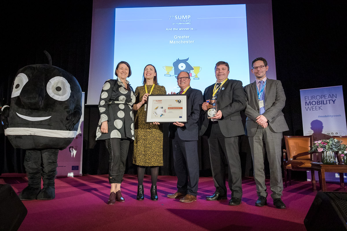 Greater Manchester takes home top European transport strategy award