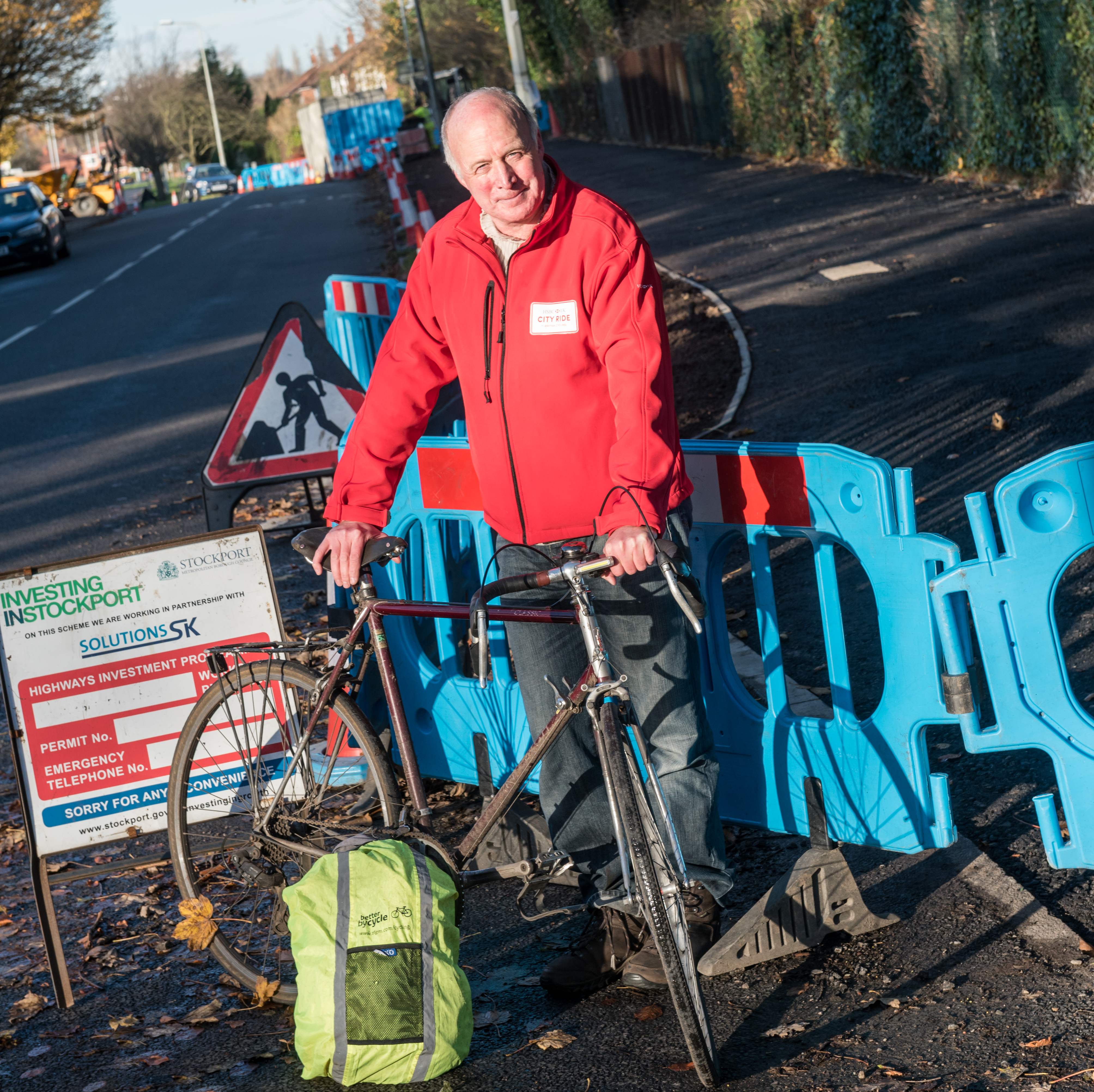 Cllr Chris Paul, TfGM Committee Cycling and Walking Champion at the Ladybrook Way