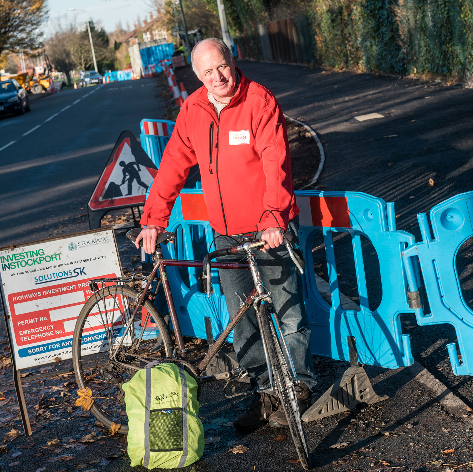 Cllr Chris Paul TfGM Committee Cycling and Walking Champion - Ladybrook Way 2