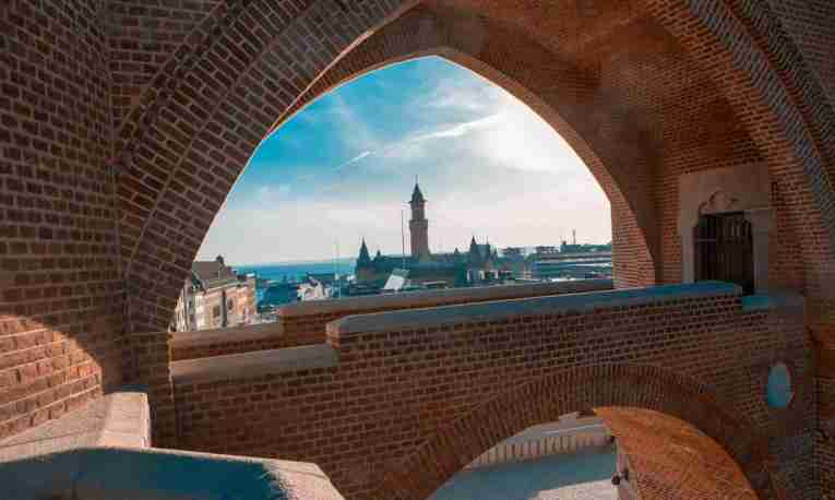 View from archway in Helsingborg Castle