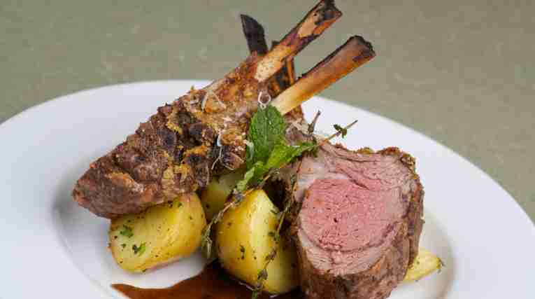 STOCK-lambchops-on plate-food-meat