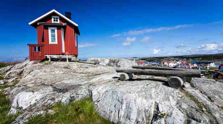 Small red house at Vrango, Gothenburg archipelago
