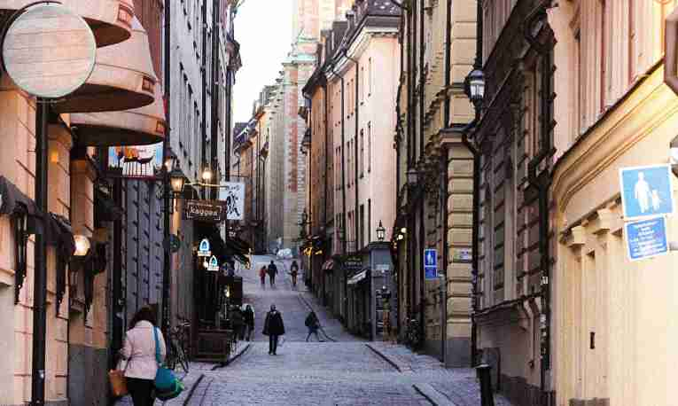 The alleys in Stockholms Old Town