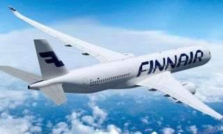 Finnair-fly i luften