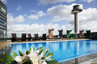 Rooftop pool at Clarion Hotel Arlanda Airport