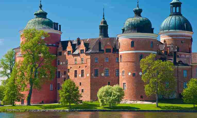 Gripsholm Castle, Sweden, in the summer