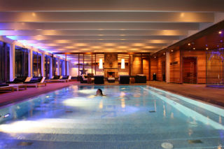 Indoor pool at Stenungsbaden Yatch Club in Stenungsund