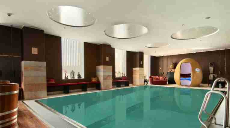The saltwater pool at the Clarion Hotel Copenhagen Airport