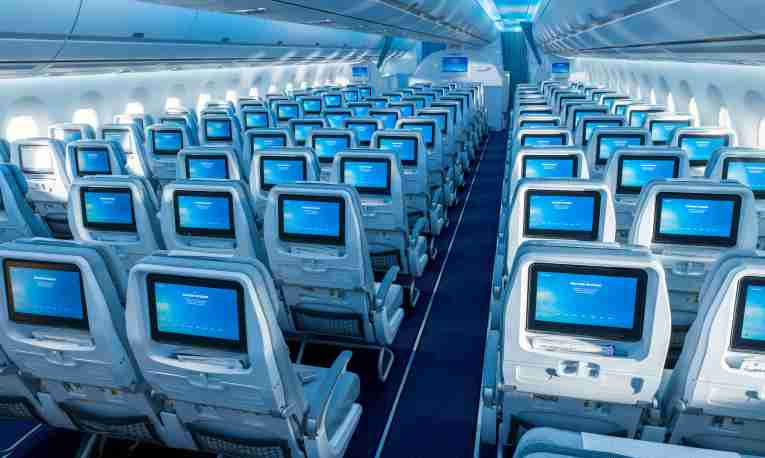 Finnair seats with screens