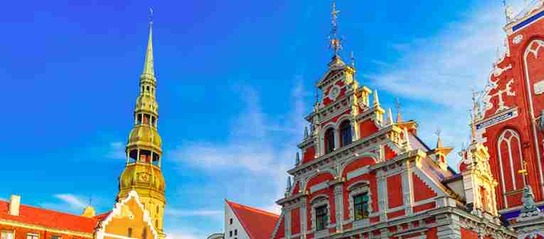 City Hall Square Old Town Riga