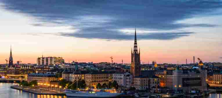 View of Riddarholmen in Stockholm