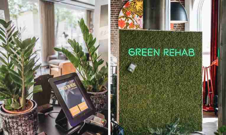 Self check in station at Green Rehab at Comfort Hotel