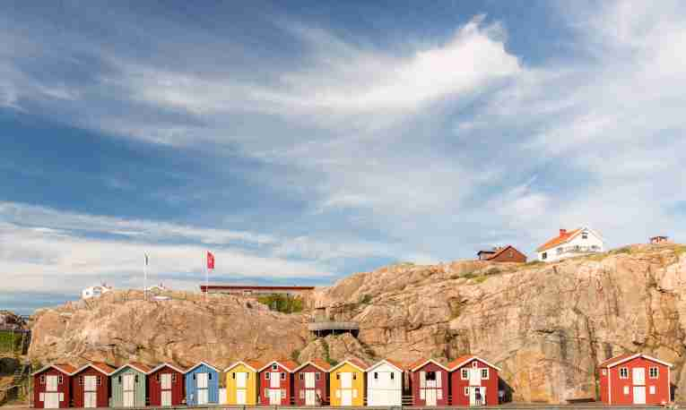 Houses in Smogen, Gothenburg archipelago
