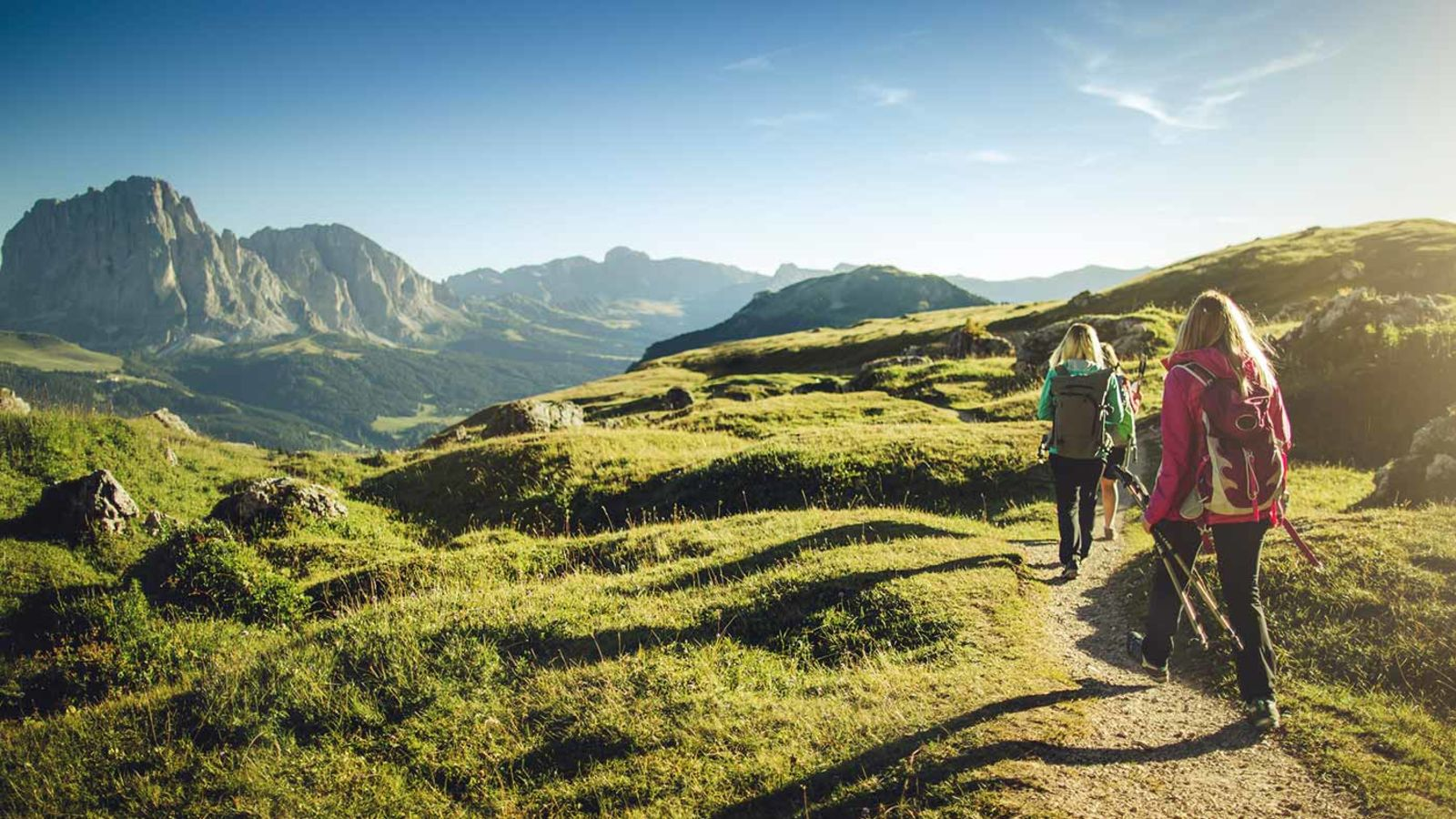 Hikers in Val Gardena