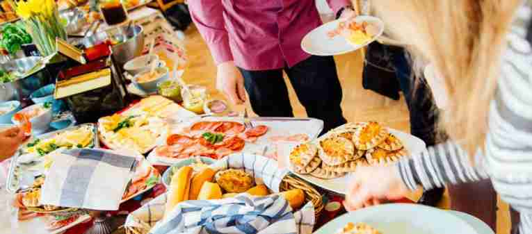 Food on table and plate in Finland