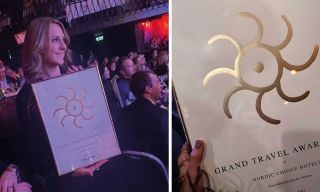 Emilie Stordalen at Grand Travel Awards in Oslo