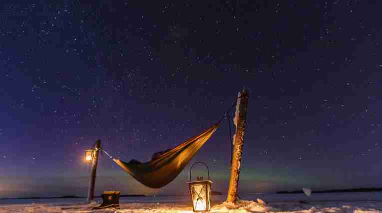 Finland: Camping under Northern Lights