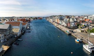 Haugesund water and city