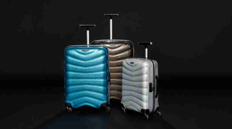 Three different colours of Accent/Morris suitcases